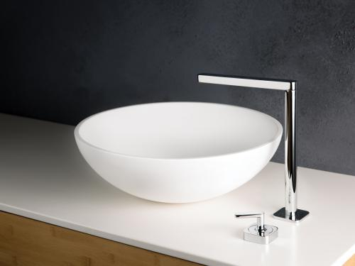 PAA SILKSTONE washbasin Round Silk On on Silkstone surface interior