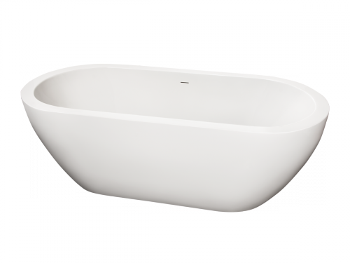 High quality acrylic free standing bathtub Opera 1850x850 mm front view