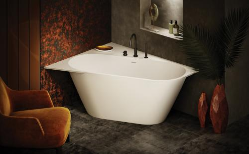 PAA Made to measure bath DECO SHAPE - with rounded thin front side - design sketch