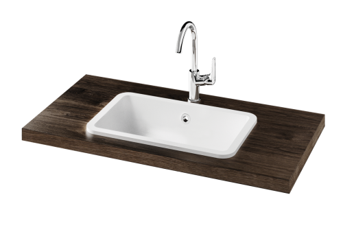 Opus Silk In surface-mounted washbasin with optional overflow, product photo