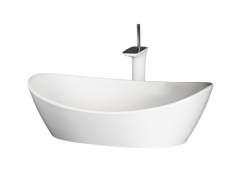 PAA Silkstone washbasin Amore 600x370x195mm on white background