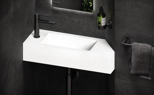 PAA Silkstone small size washbasin STRETTO 668x260 mm - product sample